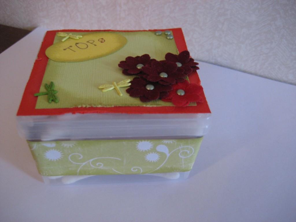 Omgjord tops låda